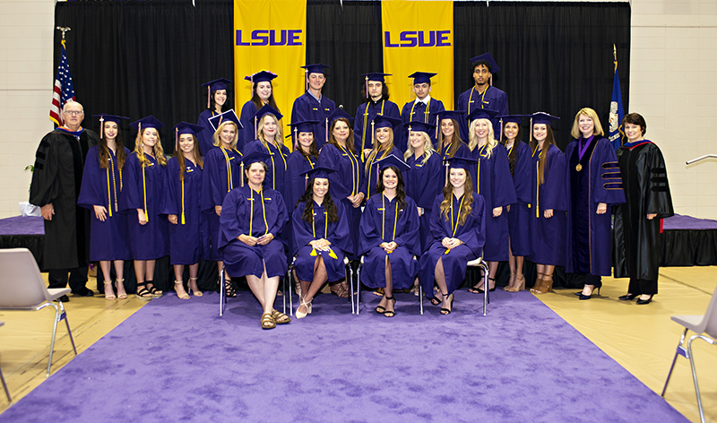 LSUE Honor Grads in Cap and Gown