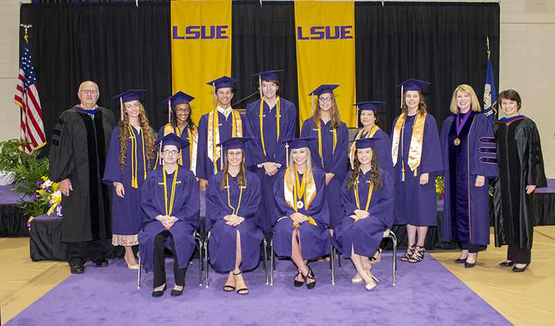 LSUE Honor Graduates in Cap and Gown