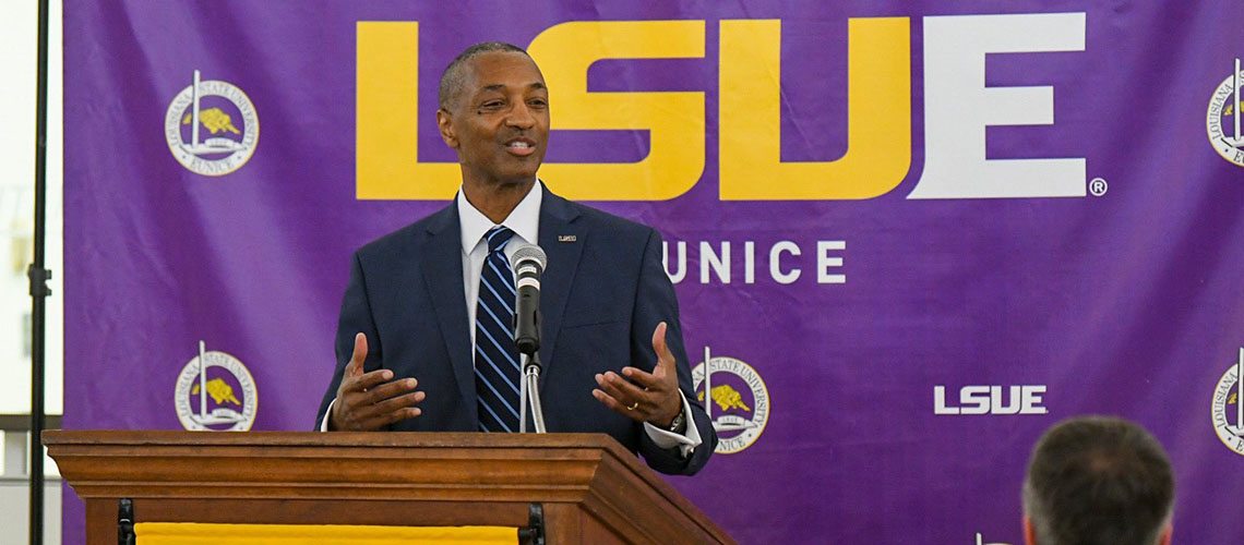 LSUE Welcomes President Tate